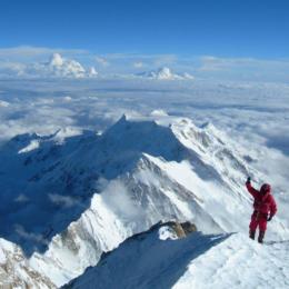 João Garcia na chegada ao cume do Kangchenjunga | Nepal - Índia 2006