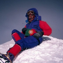 Joao Garcia no cume do Everest 1999