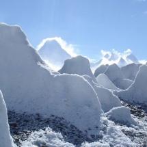 Penitentes de gelo no Glaciar de Baltoro Pakistao2007