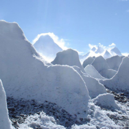 Penitentes de gelo | Glaciar de Baltoro, Paquistão 2007