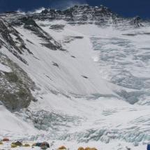 Face do Lhotse 8516 acampamento 2 do Everest Nepal 2005