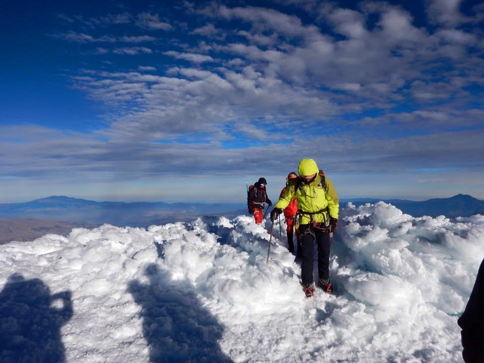 29 Julho a 10 Agosto: Ascensão ao Cayambe 5790m e Chimborazo 6267m
